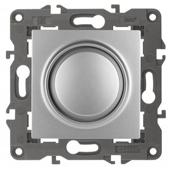 Светорегулятор поворотно-нажимной Elegance 400ВА алюминий