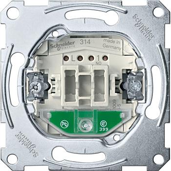 SE Merten Механизм QuickFlex Выключателя кнопочного 10А зам.+с подсвет. сигнал. контакт