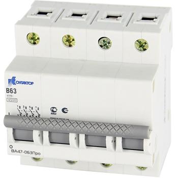 Выключатель автоматический ВА47-063Про, 4P, 40A, Icu-4,5kA, х-ка В