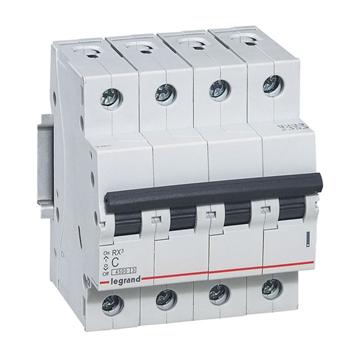 Выключатель автоматический RX3 4п 63Ах-ка C 4,5кА Legrand 419747