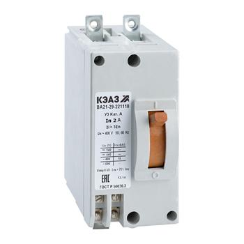 Выключатель ВА21-29-241110-20А-6Iн-440DC-У3- 102395 КЭАЗ
