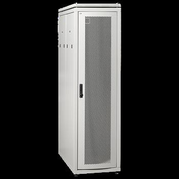 ITK Шкаф сетевой 19' LINEA N 24U 600х1000 мм с L-профилями перфорированные двери серый LN35-24U61-PP-L IEK