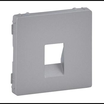 Лицевая панель для аудиорозетки с пружинными зажимами одиночной. Алюминий. Valena LIFE. 755362 Legrand