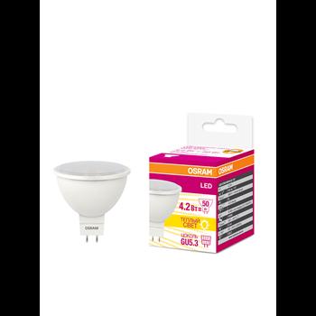 Фото Лампа LED GU5.3 4,2Вт 3000К 400Lm 220В рефлектор/спот LED Star 4058075129061 Ledvance/Osram