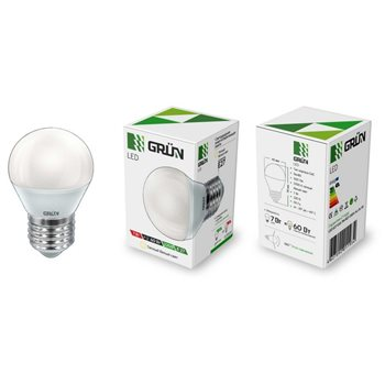 Лампа LED E27 7Вт 827/2700K 500Lm 220В G45 мат.