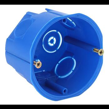 Коробка установочная 1-постовая КУТ IP20 68х45мм синяя
