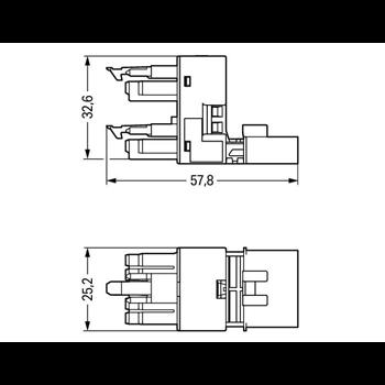 h-Verteiler St/Bu-Bu 5-pol. mit 2xVK