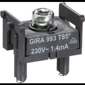 Фото Подсветка для светового сигнала Е10 230 В 4 мА 099300 GIRA