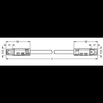 Соединительный провод 3-конт. 1 м