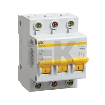 Выключатель ВА47-29 3п 25А х-ка C 4,5кА MVA20-3-025-C IEK