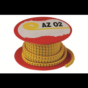 Фото Колечко маркировочное 'S', 1,3-2,5мм. черное на желтом AZO2SSBY ДКС изображение №2