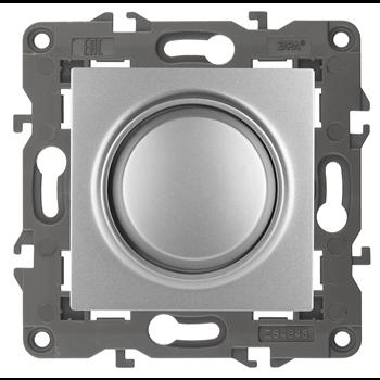 Светорегулятор поворотно-нажимной Elegance 400ВА алюминий Б0034341 ЭРА S3 - Энергия света