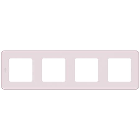Фото Рамка четырехпостовая розовый Inspiria Legrand 673964