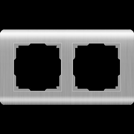 Фото Рамка двухместная серебряный Stream