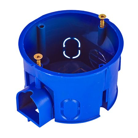 Фото Коробка установочная d63x40мм пластик, синий