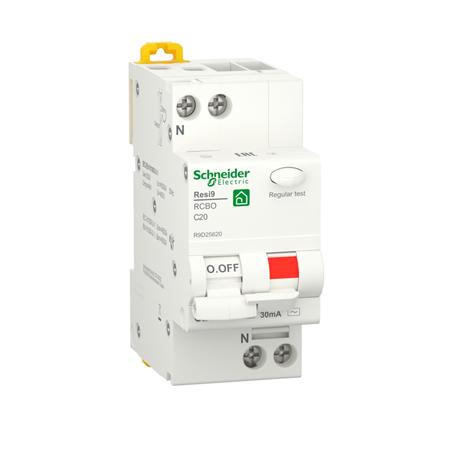 Фото Выключатель SE RESI9 дифференциального тока (ДИФ) 1P+N С 20А 6000A 30мА тип AС