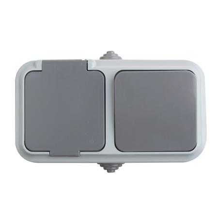 Фото Блок комбинированный комбинация выключателя и розеток