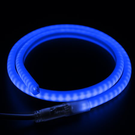 Фото Гибкий Неон LED SMD, форма - D, синий, 120 LED/м, бухта 100м
