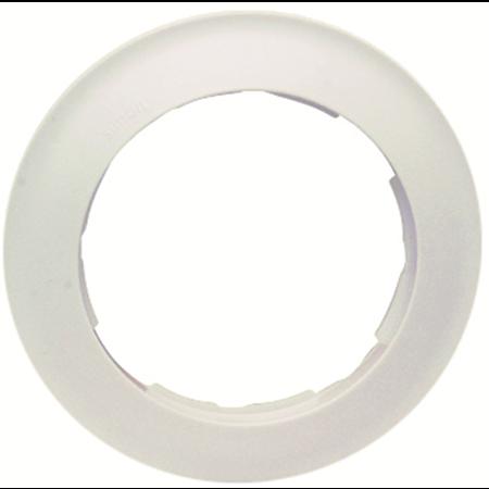 Фото Рамка четырехместная круглая белый 88