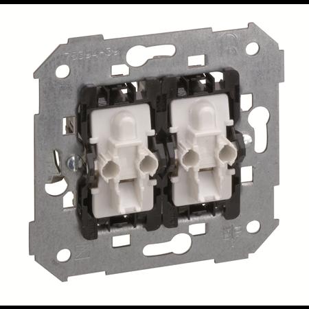Фото Механизм переключателя двухклавишного с подсветкой 75