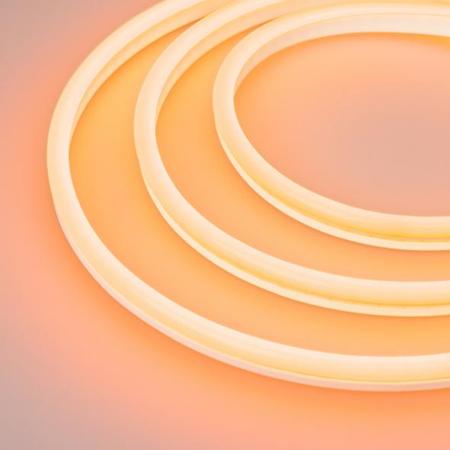 Фото Образец Гибкий неон GALAXY-1608-5000CFS-2835-100 12V Amber 0.5M (16x8mm, 12W, IP67) Arlight