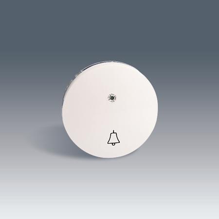 Фото Выключатель Клавиша на с символом свет, с подсветкой графит 88