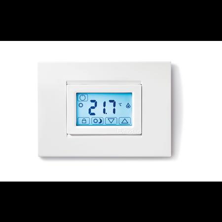 Фото Термостат комнатный цифровой с недельным таймером Touch Basic сенсорный экран 3В DC 1СО 5А монтаж на стену черн. 1C7190032007PAS