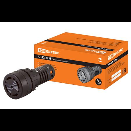 Фото Сигнализатор звуковой AD22-22M/k23 d22 мм 24В DC/AC черный