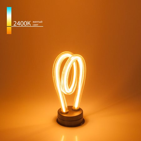 Фото Лампа светодиодная, филаментная 4 Вт E27 2400K 220Lm 360град. Elektrostandard a043994