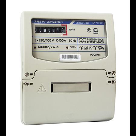Фото Счетчик электроэнергии ЦЭ6803В 1 230В 10-100А 3ф.4пр. М7 Р32