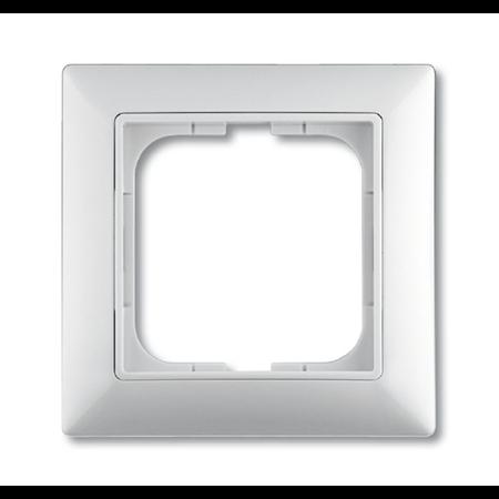Фото Рамка с декоративной накладкой, 1 пост, альпийский белый 1725-0-1479