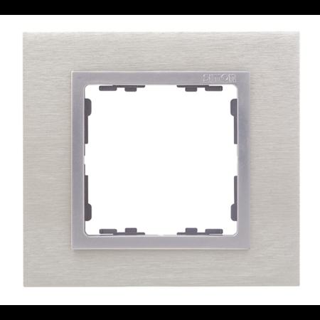 Фото Рамка одноместная сталь матовая/алюминий 82 Nature SIMON