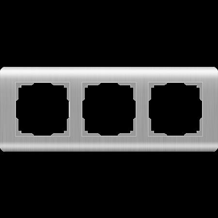 Фото Рамка трехместная серебряный Stream