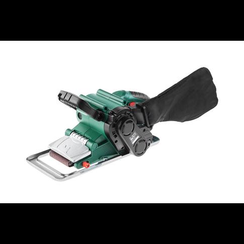 Шлиф.машинка ленточная Hammer Flex LSM800B  800Вт 120-290м/мин лента 75x457мм, рамка, струбцины 2шт