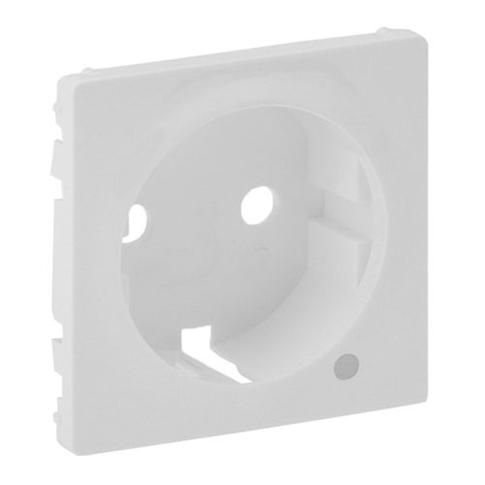 Лицевая панель розетки 2К+З c линзой для подсветки/индикации. Белый. Valena LIFE.