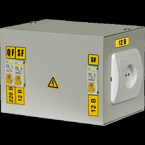 Ящики ятп имеют разборный металлический корпус , внутри которого установлены: - однофазный понижающий трансформатор