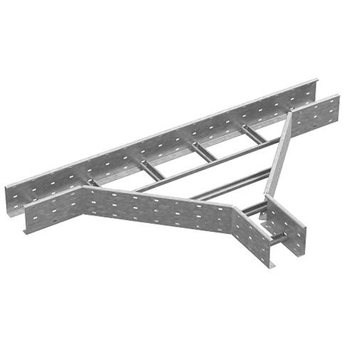 Тройник для лестничного лотка ЛКР 500х110 (горячий цинк)