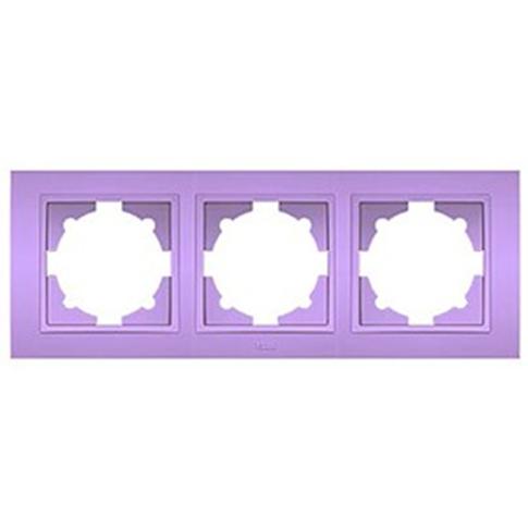 ABB Zena сиреневая рамка 3 постовая