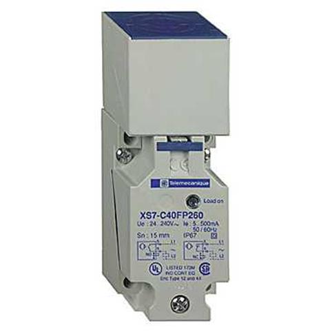 Inductive sensor XS7 40x40x117, plastic, Sn20mm, 12..48VDC, terminals