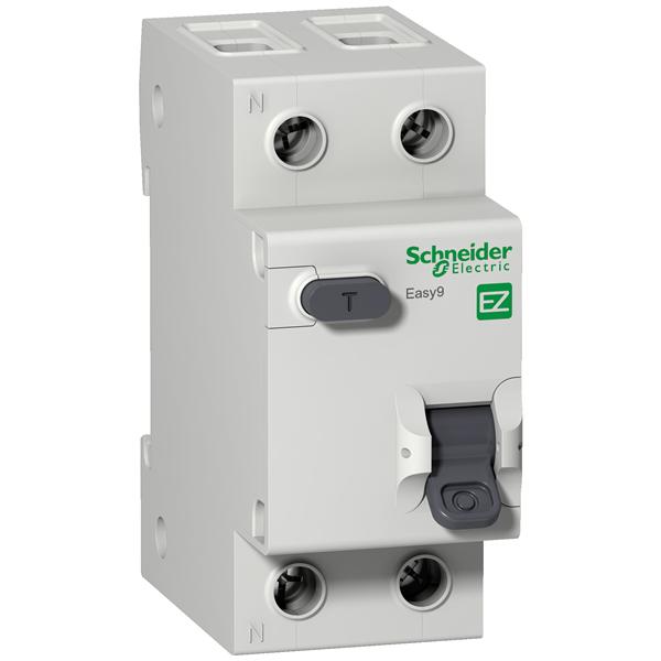 Выключатель авт. диф. тока EASY 9 1п+N 10А  30мА  тип AC  х-ка C  4,5кА EZ9D34610  SE